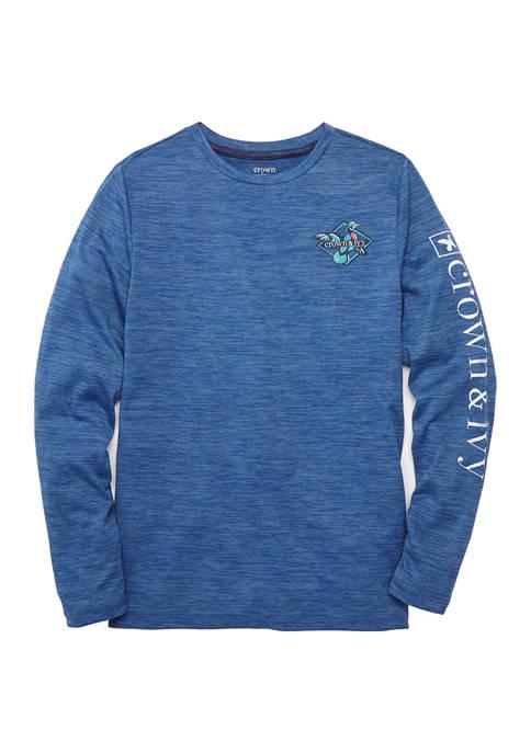Boys 8-20 Long Sleeve Performance Graphic T-Shirt