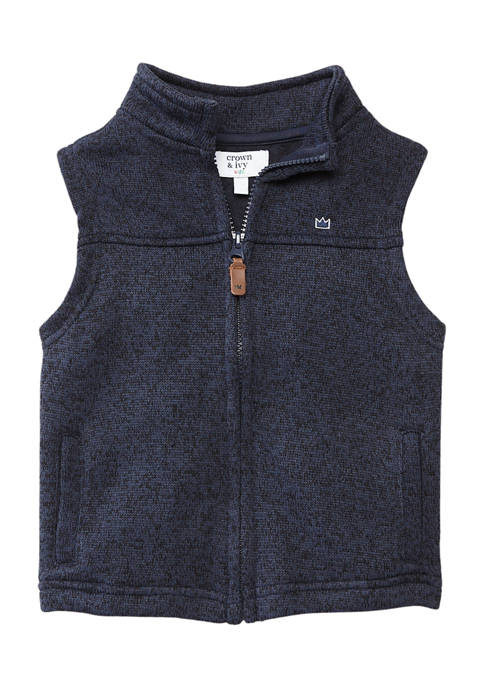 Crown & Ivy™ Boys 8-20 Fleece Sweater Vest