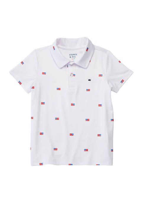 Boys 8-20 Printed Performance Polo Shirt