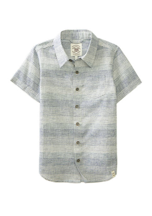 Boys 4-7 Short Sleeve One Pocket Woven Shirt
