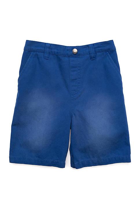 Boys 4-8 4 Pocket Washed Shorts