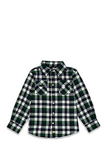 TRUE CRAFT Boys 4-8 Two Pocket Long Sleeve Woven Shirt