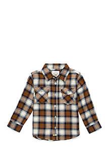 Boys 4-8 Two Pocket Long Sleeve Woven Shirt