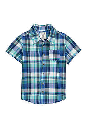 721dc630b19 TRUE CRAFT Boys 4-8 Pocket Short Sleeve Woven Shirt ...