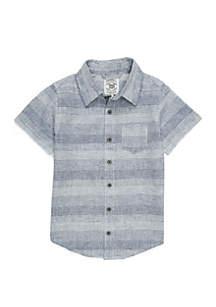 TRUE CRAFT Boys 4-8 Pocket Short Sleeve Woven Shirt