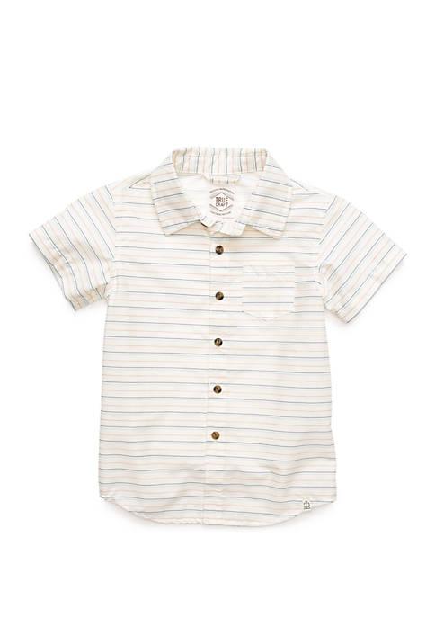 Boys 4-8 One Pocket Short Sleeve Woven Shirt