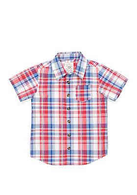 fa9cef4ea TRUE CRAFT Boys 4-7 One Pocket Short Sleeve Woven Shirt ...