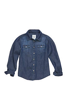 TRUE CRAFT Boys 4-8 Long Sleeve Chambray Shirt