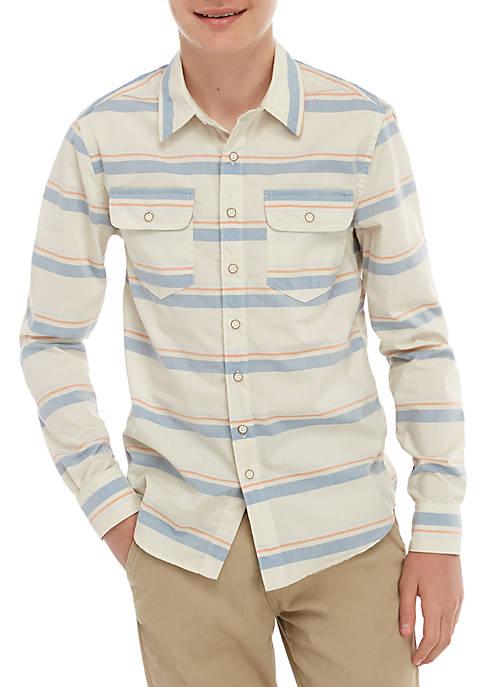 TRUE CRAFT Boys 8-20 Long Sleeve Woven Button