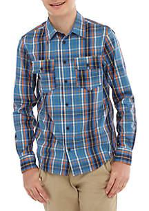 TRUE CRAFT Boys 8-20 Long Sleeve Woven Button Down Shirt