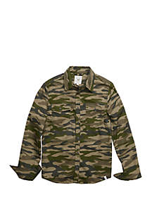 TRUE CRAFT Boys 4-8 Long Sleeve Camo Woven Shirt