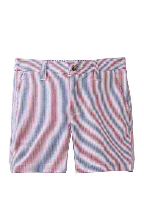 Crown & Ivy™ Boys 4-7 Seersucker Shorts