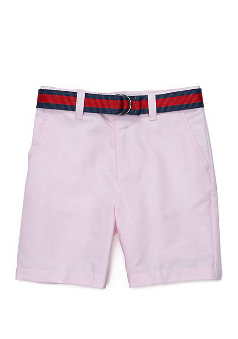 Boys 4-8 Belted Flat Front Shorts