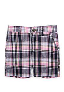 Crown & Ivy™ Boys 4-8 Plaid Flat Front Shorts