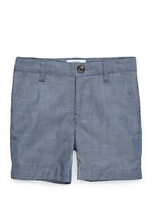 Crown & Ivy™ Boys 4-8 Chambray Flat Front Shorts