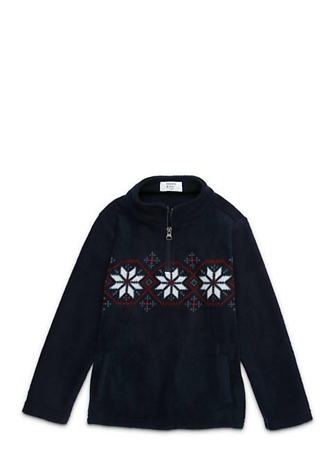 Crown & Ivy™ Boys 4-7 Zip Microfleece Pullover