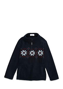 Crown & Ivy™ Boys 4-7 Zip Microfleece Pullover