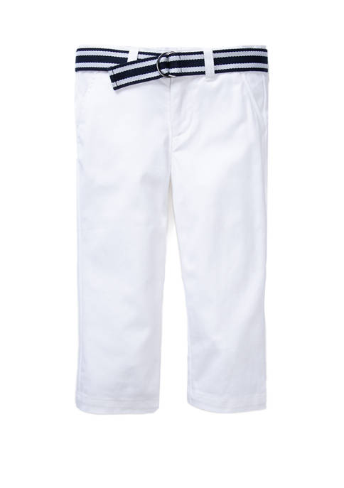 Crown & Ivy™ Boys 4-7 Belted Twill Pants