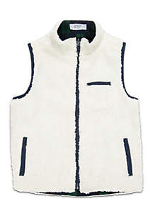 Crown & Ivy™ Boys 4-7 Sherpa Vest