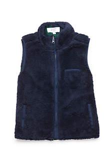 Boys 4-8 Lined Sherpa Vest