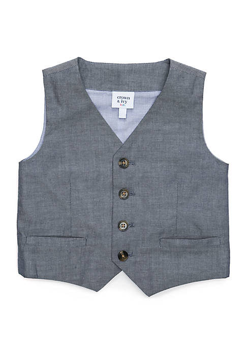 Crown & Ivy™ Boys 4-8 Chambray Vest