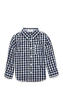 19aeb67c0 Crown   Ivy™ Boys 4-7 One Pocket Long Sleeve Woven Shirt