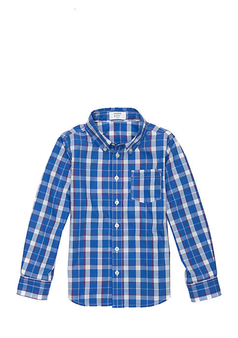 Crown & Ivy™ Boys 4-8 Woven Pocket Shirt