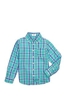 Boys 4-8 Woven Pocket Shirt