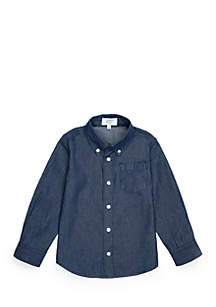 Boys 4-7 Long Sleeve Chambray Shirt