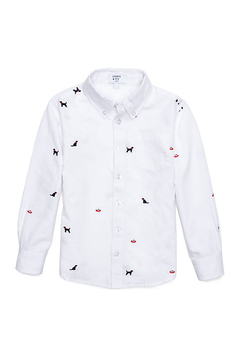 Crown & Ivy™ Boys 4-8 Long Sleeve Oxford