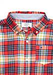 Boys 4-7 Long Sleeve Flannel Woven Shirt
