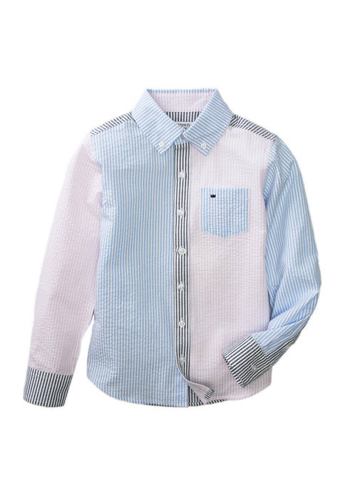 Crown & Ivy™ Boys 4-7 Long Sleeve Patchwork