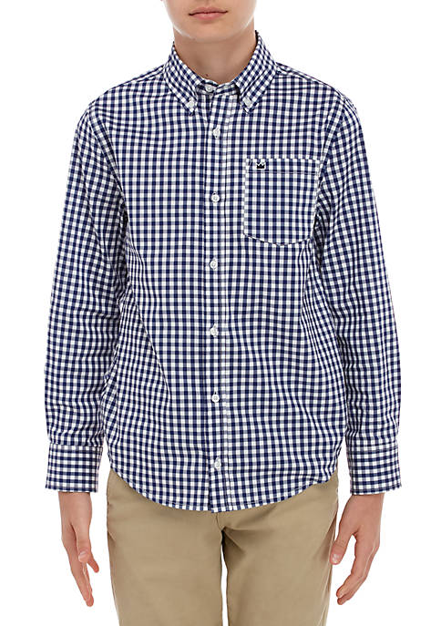Crown & Ivy™ Boys 8-20 Long Sleeve Gingham