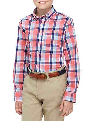 e66d0c27c4 Crown & Ivy™ Boys 8-20 Long Sleeve Easy Care Woven Shirt ...