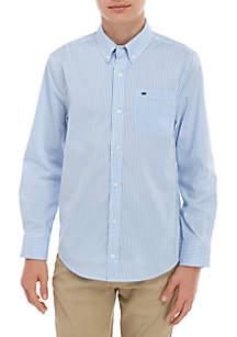 Crown & Ivy™ Boys 8-20 Long Sleeve Woven Stripe Shirt