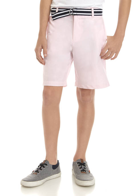 Crown & Ivy™ Boys 8-20 Belted Oxford Shorts