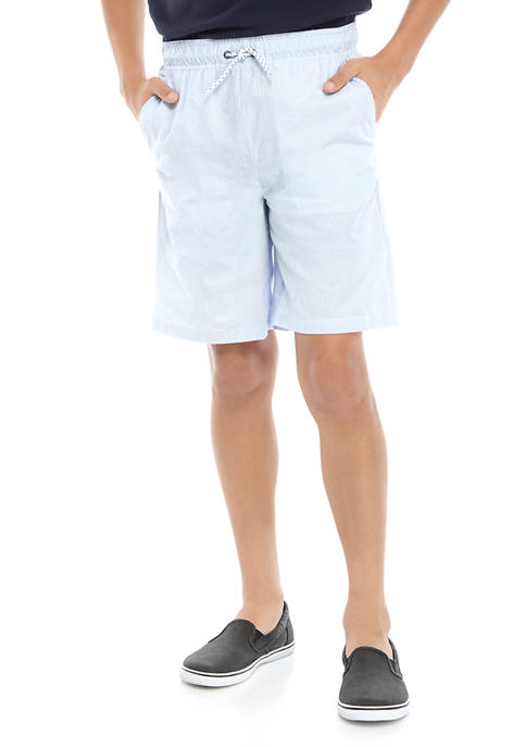 Crown & Ivy™ Boys 8-20 Seersucker Deck Shorts