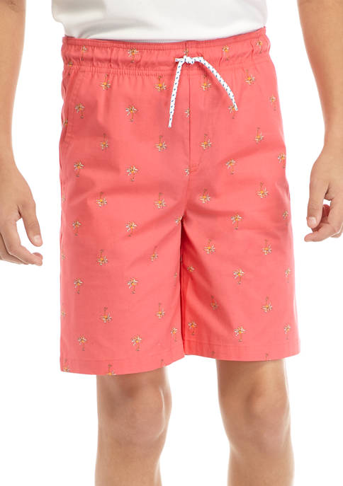 Boys 8-20 Pull On Deck Shorts