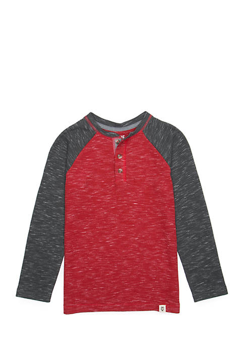 Boys 4-8 Long Raglan Sleeve Henley Tee