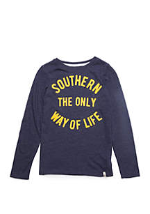 TRUE CRAFT Boys 4-7 Long Sleeve Southern Graphic T Shirt