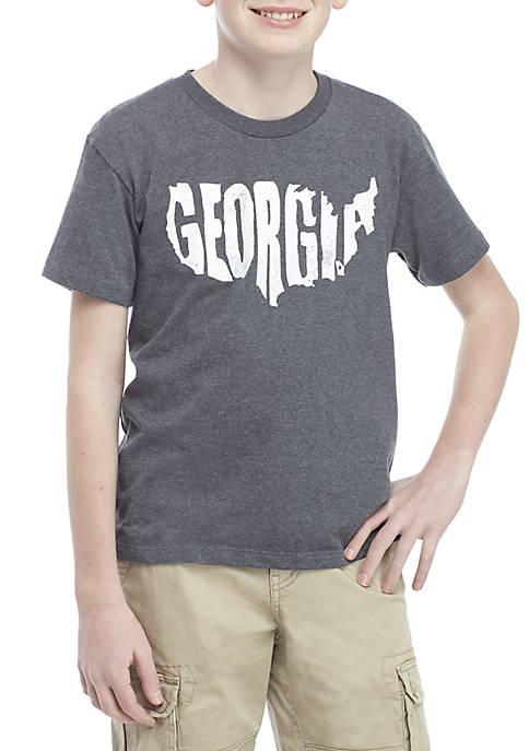 TRUE CRAFT Boys 8-20 Georgia State Tee