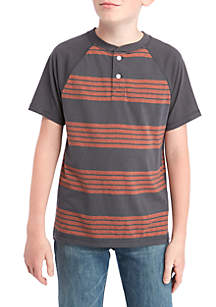 Boys 8-20 Short Sleeve Fashion Henley Shirt