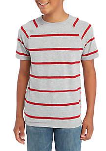 Boys 8-20 Short Sleeve Stripe Raglan Tee