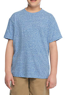 Boys 8-20 Snow Heather Crew Tee