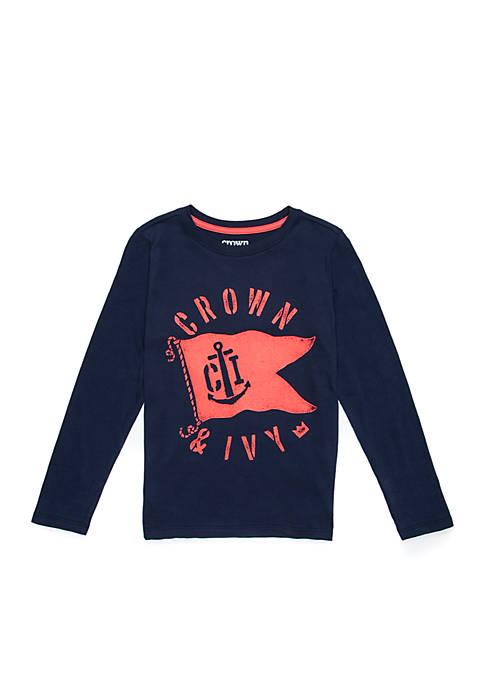 Crown & Ivy™ Boys 4-8 Long Sleeve Crew