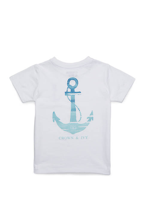 Crown & Ivy™ Boys 4-8 Short Sleeve Graphic