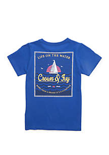 Crown & Ivy™ Boys 4-7 Short Sleeve T Shirt