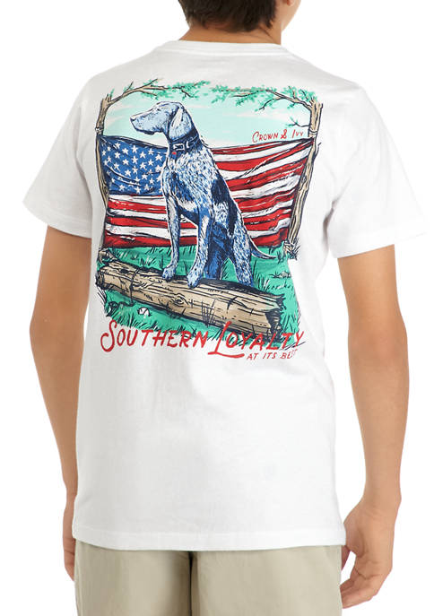 Crown & Ivy™ Boys 8-20 Short Sleeve Graphic