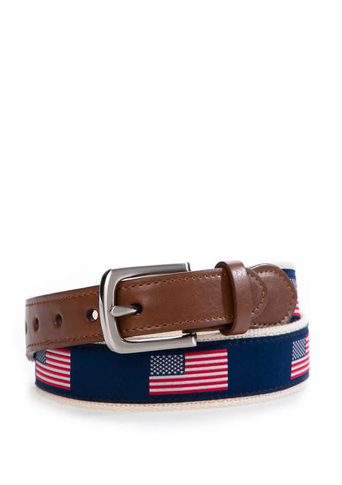 Crown & Ivy™ Boys American Flag Belt