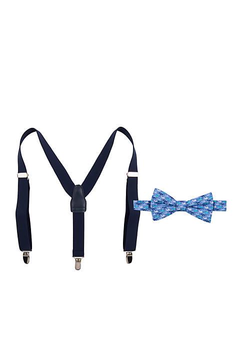 Crown & Ivy™ Boys 4-7 Whale BT Suspender